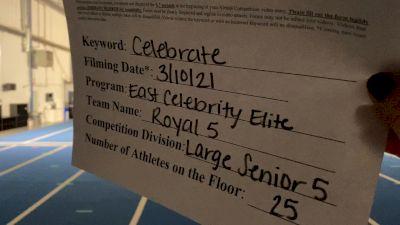 East Celebrity Elite - Royal 5 [L5 Senior] 2021 Spirit Festival Virtual Nationals