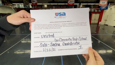 San Clemente High School [Open - Solo] 2021USA Virtual Dance Winter Series #2