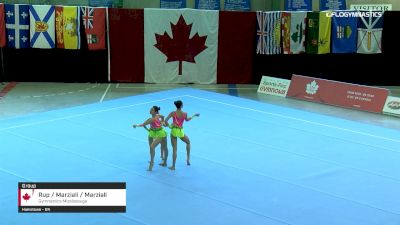 Rup / Marziali / Marziali - Group, Gymnastics Mississauga - 2019 Canadian Gymnastics Championships - Acro