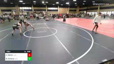 116 lbs Consi Of 8 #1 - Elijah Sierra, Hawks Athletic Club vs Max Richins, Wasatch WC