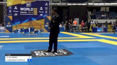 ROBERTO DE ABREU vs JAMES PUOPOLO 2019 World IBJJF Jiu-Jitsu No-Gi Championship