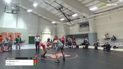 170 lbs 3rd place - Nathan Fishman, Bandits vs Hyunku Kim, B&O Outlaws