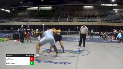 295 lbs 3rd Place - Jordan Miron, E vs Lewis Rumsey, N