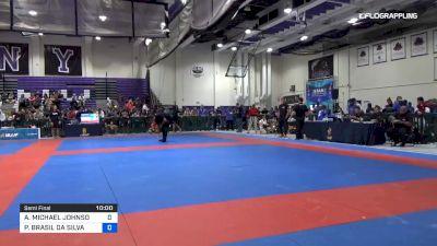 AARON MICHAEL JOHNSON vs PAULO BRASIL DA SILVA 2019 Pan IBJJF Jiu-Jitsu No-Gi Championship