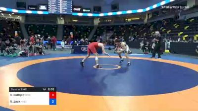 65 kg Consolation - Caleb Rathjen, Sebolt Wrestling Academy vs Ryan Jack, Wolfpack Wrestling Club