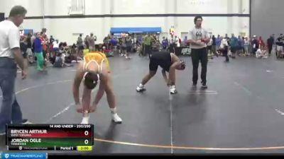 200 lbs Round 4 - Jordan Ogle, Tennessee vs Brycen Arthur, West Virginia