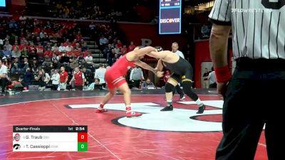 285 lbs Quarterfinal - Gary Traub, Ohio State vs Tony Cassioppi, Iowa