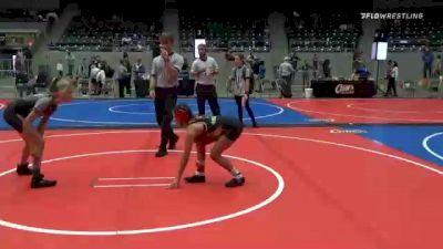 82 lbs Consolation - Esperanza Gallegos, NM Gold vs Macy Dobson, Mojo Grappling