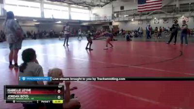 127 lbs Round 2 (4 Team) - Jordan Boyd, Indiana INFERNO GOLD vs Isabelle Leyhe, Youtube Wrestlers