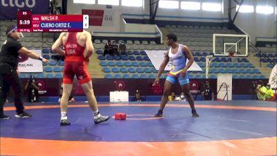 77 kg Semifinal - P. Walsh, United States vs Enrique Javier Cuero Ortiz, Ecuador