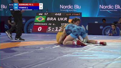 57 kg 1/4 Final - Giullia Rodrigues Penalber De Oliveira, Brazil vs Solomiia Vynnyk, Ukraine