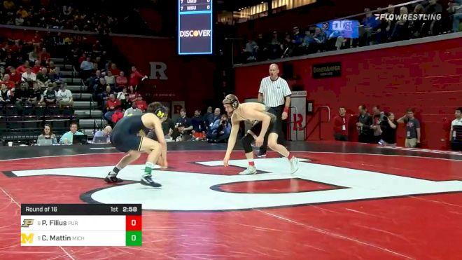 141 lbs Prelims - Parker Filius, Purdue vs Cole Mattin, Michigan