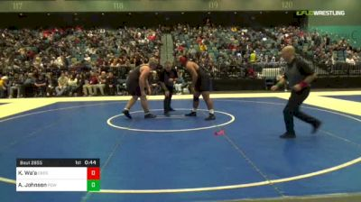 285 lbs 3rd Place - Kaimana Wa'a, Cresent Valley vs Andrew Johnson, Poway