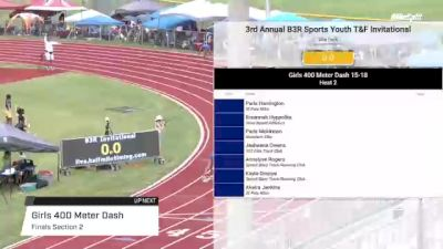Youth Girls' 400m, Finals 2 - Age under 18