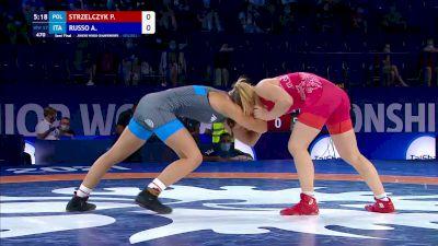 57 kg Semifinal - Patrycja Strzelczyk, POL vs Aurora Russo, ITA