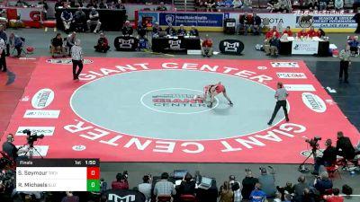 120 lbs Final - Sheldon Seymour, Troy vs Ryan Michaels, Elizabeth Forward