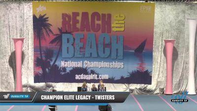 Champion Elite Legacy - Twisters [2021 L1 Mini - D2] 2021 Reach the Beach Daytona National