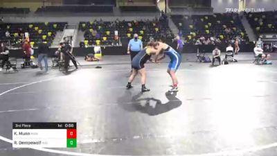 200 lbs 3rd Place - KayLyn Munn, Missouri vs Riley Dempewolf, Indiana