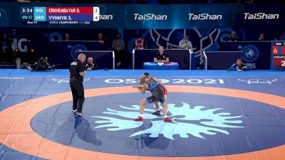 57 kg Final 3-5 - Davaachimeg Erkhembayar, Mongolia vs Solomiia Vynnyk, Ukraine