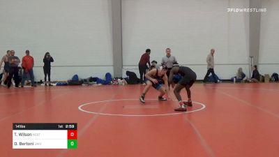 141 lbs Final - Tariq Wilson, NC State vs Danny Bertoni, University Of Maryland Unattached