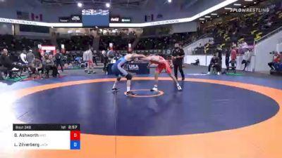 74 kg Consolation - Branson Ashworth, Wyoming Wrestling Reg Training Ctr vs Luke Zilverberg, Jackrabbit Wrestling Club