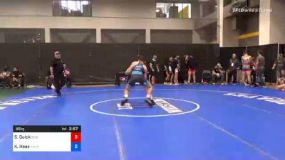 86 kg Prelims - Shane Quick, Buies Creek Wrestling Club vs Kyle Haas, Kansas City Wrestling Club