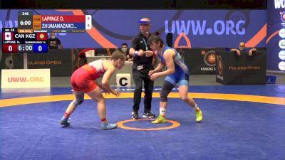 68 kg Bronze - Danielle Lappage, CAN vs Meerim Zhumanazarova, KGZ