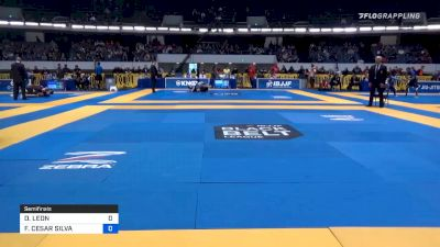 DANTE LEON vs FELIPE CESAR SILVA 2019 World IBJJF Jiu-Jitsu No-Gi Championship