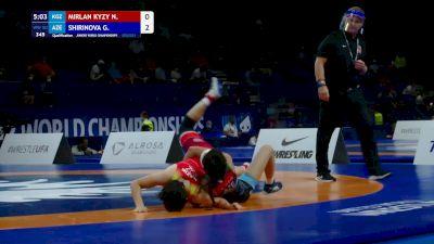 50 kg Qualif. - Nazik Mirlan Kyzy, KGZ vs Gultakin Shirinova, AZE