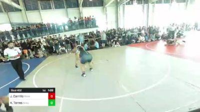 191 lbs Quarterfinal - Jordan Carrillo, Pounders WC vs Kimberly Torres, Shadow Hills