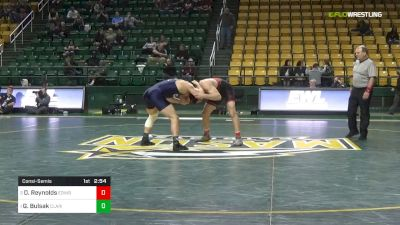 197 lbs Consolation - Dylan Reynolds, Edinboro University vs Greg Bulsak, Clarion University