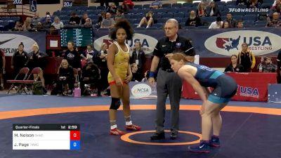 62 kg Quarterfinal - Maya Nelson, Sunkist Kids Wrestling Club vs Jennifer Page, Titan Mercury Wrestling Club