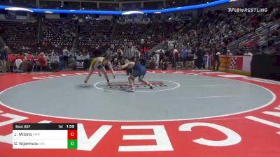 182 lbs Quarterfinal - Joey Milano, Spring-Ford vs Gerrit Nijenhuis, Canon-McMillan