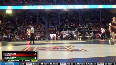 157 5th, Steve Bleise, Minnesota vs Ryan Deakin, Northwestern