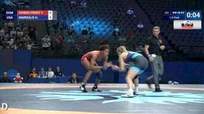 58 kg Quarterfinal Helen MAROULIS (USA) df. Y. OVIEDO PEREZ (DOM) by VSU, 11-0