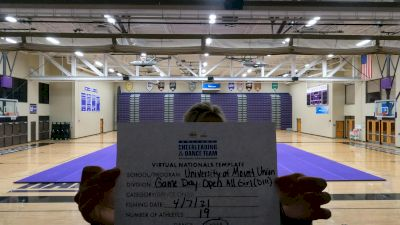 University of Mount Union [Virtual Open All Girl Game Day - Cheer Semi Finals] 2021 UCA & UDA College Cheerleading & Dance Team National Championship