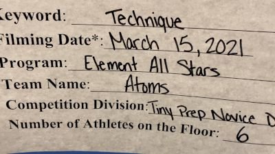 Element All Stars [L1 Tiny - Novice - Restrictions] 2021 Varsity Virtual Competition Series - Prep & Novice II