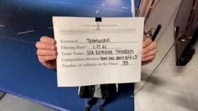 SYA Extreme - Thunder [L3 Performance Recreation - 18 & Younger (AFF)] 2021 Varsity Recreational Virtual Challenge II