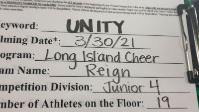 Long Island Cheer - Reign [L4 Junior - Small] 2021 Mid Atlantic Virtual Championship
