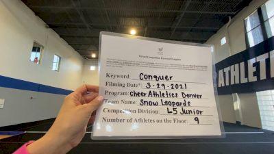 Cheer Athletics - Denver - Snow Leopards [L5 Junior] 2021 Varsity All Star Winter Virtual Competition Series: Event V