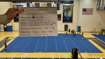 University of Michigan [Virtual Intermediate Small Coed Division IA Prelims] 2021 NCA & NDA Collegiate Cheer & Dance Championship