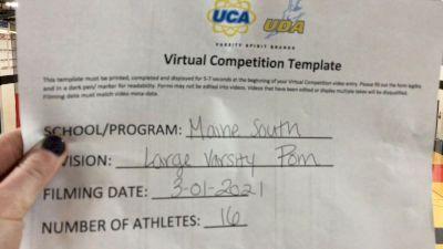 Maine South High School [Virtual Large Varsity - Pom Finals] 2021 UDA National Dance Team Championship