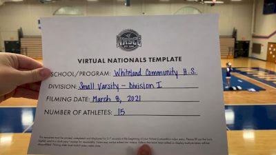 Whiteland Community High School [Virtual Small Varsity Finals] 2021 UCA National High School Cheerleading Championship