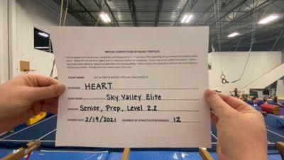 Sky Valley Elite - Senior Black [L2.2 Senior - PREP] 2021 Varsity Rec, Prep & Novice Virtual Challenge IV