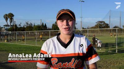 AnnaLea Adams, Beverly Bandits Premier vs Texas Sudden Impact 2021 PGF 16U Recap