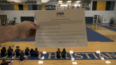 North Valley Christian Academy [Co-Ed Varsity Show Cheer Intermediate] 2020 USA Arizona & Utah Virtual Regional