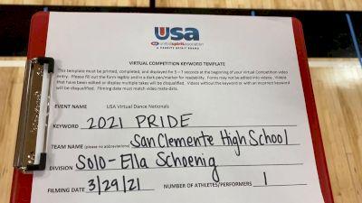 San Clemente High School [Open - Solo] 2021 USA Spirit & Dance Virtual National Championships