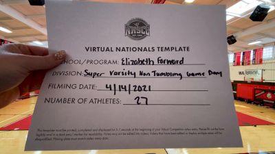 Elizabeth Forward High School [Virtual Super Varsity Non Tumbling Game Day Finals] 2021 UCA National High School Cheerleading Championship