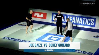 Joe Baize vs Corey Guitard BJJ Fanatics Submission Only Grand Prix
