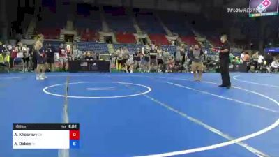 160 lbs Quarterfinal - Arian Khosravy, California vs Aaron Dobbs, Wisconsin